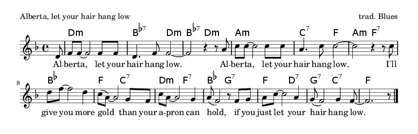 Alberta, let your hair hang low - please update page (F5 key), if notes are not visible