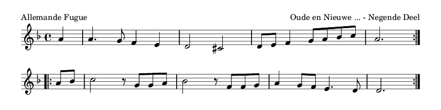 Allemande Fugue - please update page (F5 key), if notes are not visible