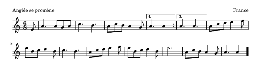 Angèle se promène - please update page (F5 key), if notes are not visible
