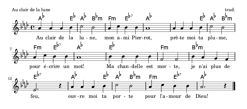 Au clair de la lune - please update page (F5 key), if notes are not visible