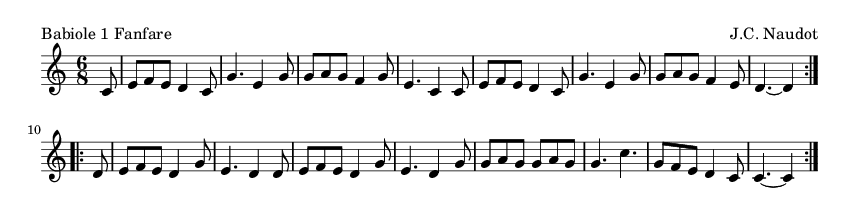 Babiole 1 Fanfare - please update page (F5 key), if notes are not visible