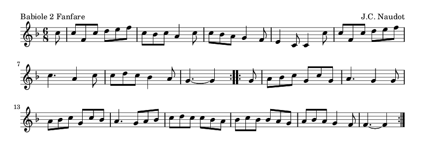 Babiole 2 Fanfare - please update page (F5 key), if notes are not visible