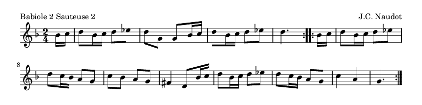 Babiole 2 Sauteuse 2 - please update page (F5 key), if notes are not visible