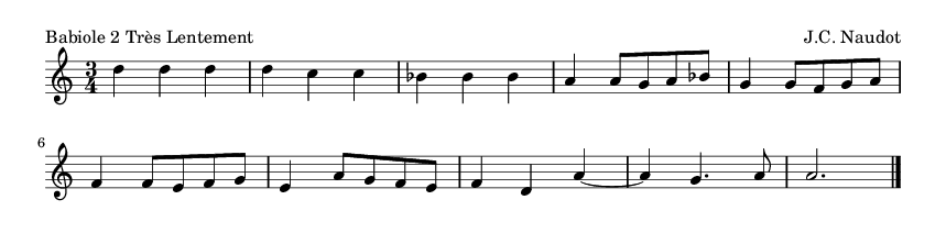 Babiole 2 Très Lentement - please update page (F5 key), if notes are not visible