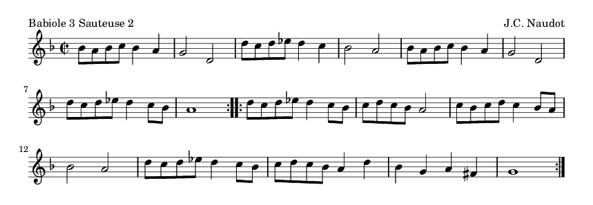 Babiole 3 Sauteuse 2 - please update page (F5 key), if notes are not visible