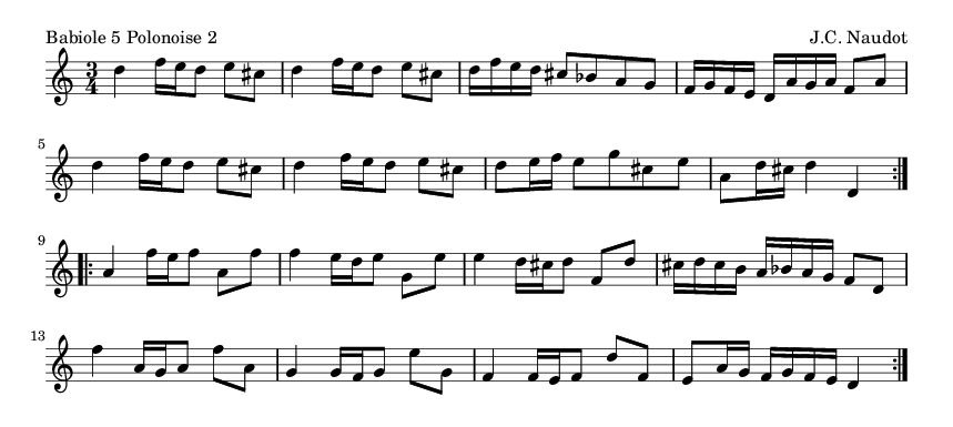 Babiole 5 Polonoise 2 - please update page (F5 key), if notes are not visible