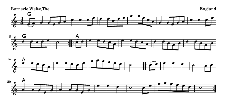 Barnacle Waltz,The - please update page (F5 key), if notes are not visible