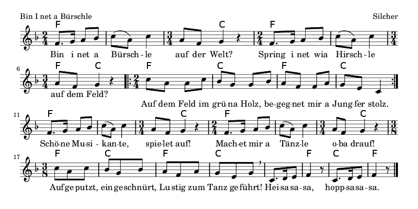 Bin I net a Bürschle - please update page (F5 key), if notes are not visible