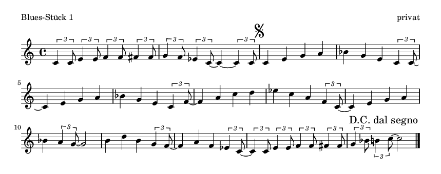 Blues-Stück 1 - please update page (F5 key), if notes are not visible