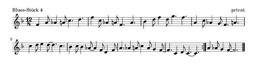 Blues-Stück 4 - please update page (F5 key), if notes are not visible