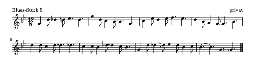 Blues-Stück 5 - please update page (F5 key), if notes are not visible