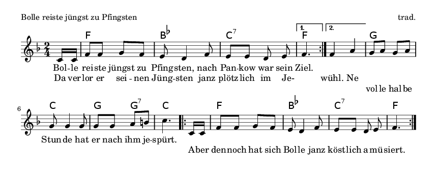 Bolle reiste jüngst zu Pfingsten - please update page (F5 key), if notes are not visible