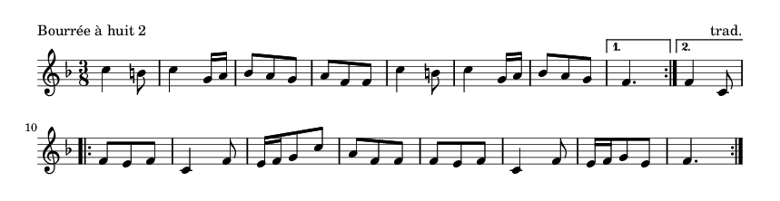 Bourrée à huit 2 - please update page (F5 key), if notes are not visible