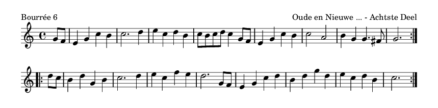 Bourrée 6 - please update page (F5 key), if notes are not visible