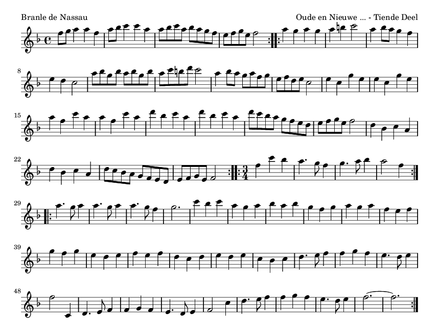 Branle de Nassau - please update page (F5 key), if notes are not visible
