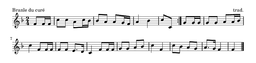 Branle du curé - please update page (F5 key), if notes are not visible