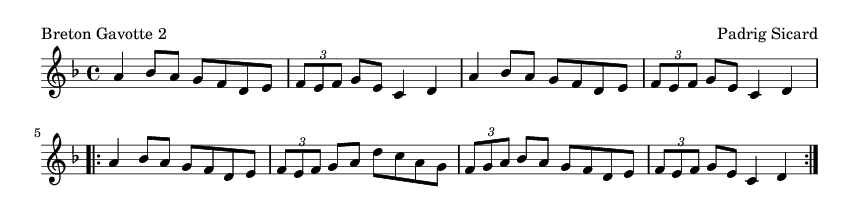 Breton Gavotte 2 - please update page (F5 key), if notes are not visible