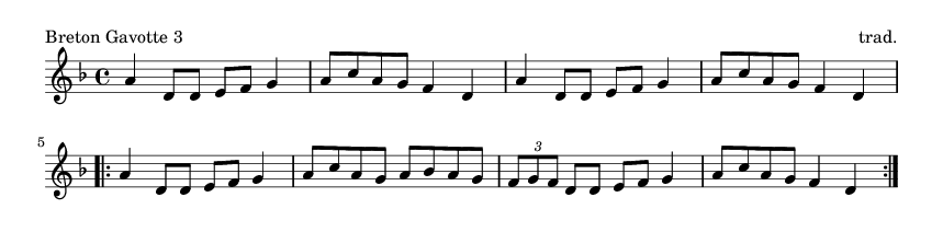 Breton Gavotte 3 - please update page (F5 key), if notes are not visible