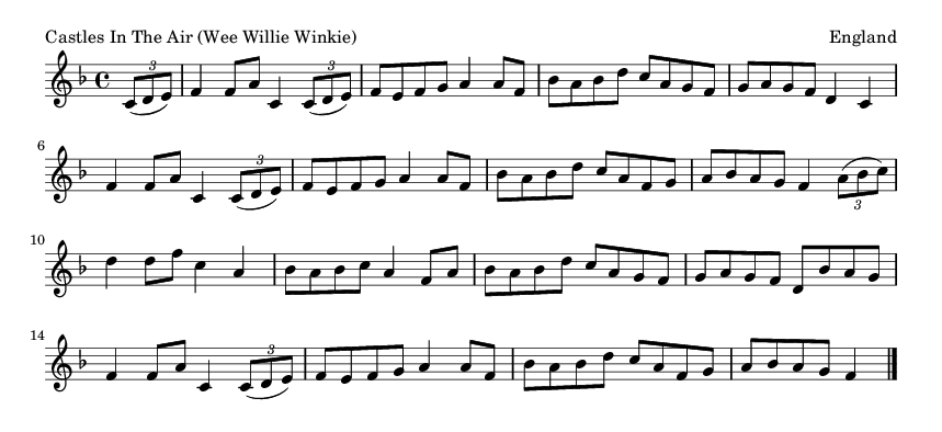 Castles In The Air (Wee Willie Winkie) - please update page (F5 key), if notes are not visible