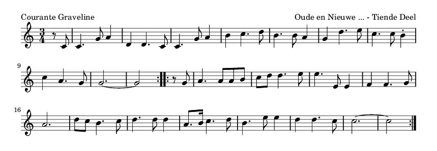 Courante Graveline - please update page (F5 key), if notes are not visible