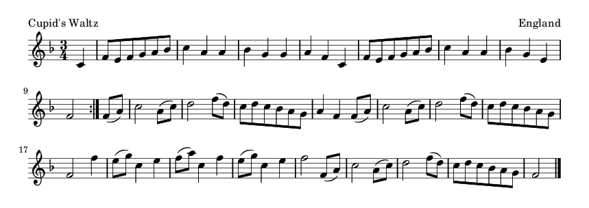 Cupid's Waltz - please update page (F5 key), if notes are not visible