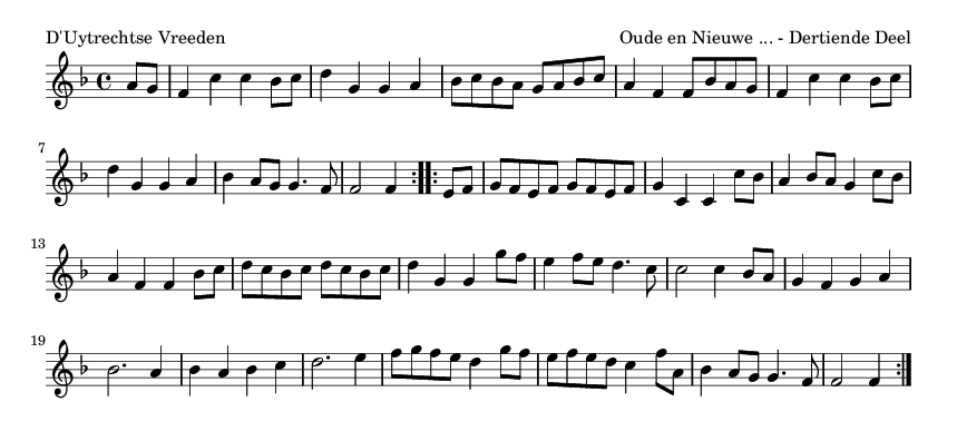 D'Uytrechtse Vreeden - please update page (F5 key), if notes are not visible