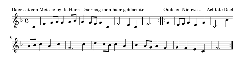 Daer sat een Meissie by de Haert Daer sag men haer gebloemte - please update page (F5 key), if notes are not visible