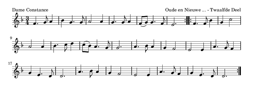Dame Constance - please update page (F5 key), if notes are not visible