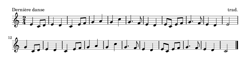 Dernière danse - please update page (F5 key), if notes are not visible