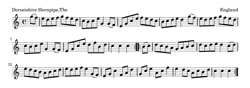 Dorsetshire Hornpipe,The - please update page (F5 key), if notes are not visible