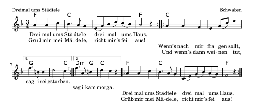 Dreimal ums Städtele - please update page (F5 key), if notes are not visible