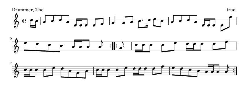 Drummer, The - please update page (F5 key), if notes are not visible