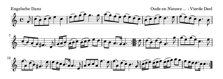 Engelsche Dans - please update page (F5 key), if notes are not visible