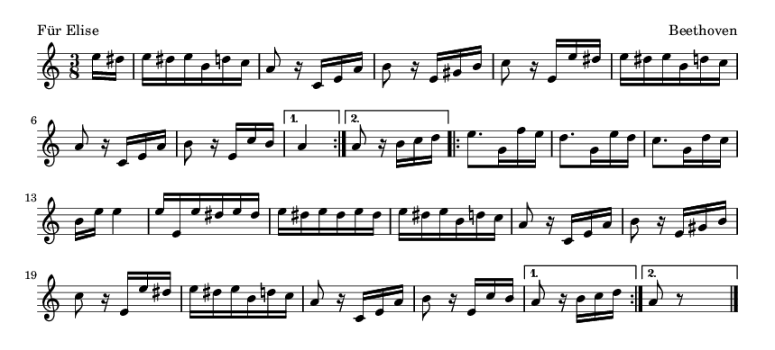 Für Elise - please update page (F5 key), if notes are not visible