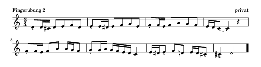 Fingerübung  2 - please update page (F5 key), if notes are not visible