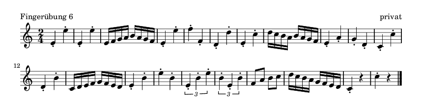 Fingerübung  6 - please update page (F5 key), if notes are not visible