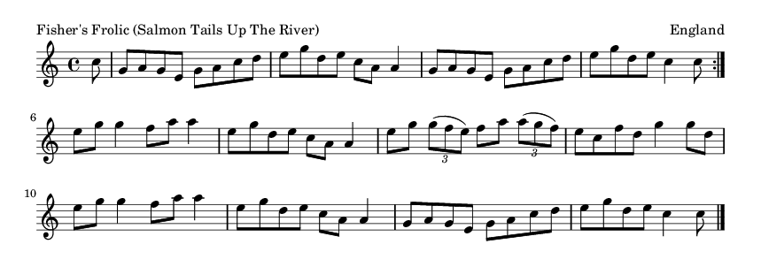 Fisher's Frolic (Salmon Tails Up The River) - please update page (F5 key), if notes are not visible