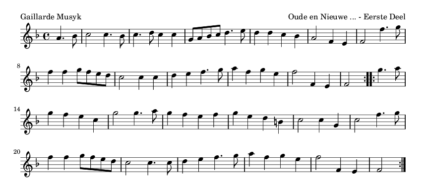 Gaillarde Musyk - please update page (F5 key), if notes are not visible