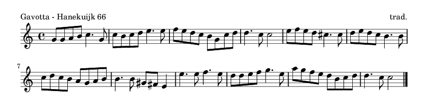 Gavotta - Hanekuijk 66 - please update page (F5 key), if notes are not visible