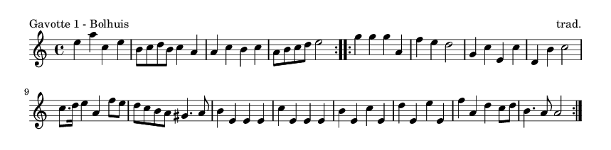 Gavotte 1 - Bolhuis - please update page (F5 key), if notes are not visible