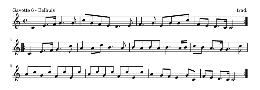 Gavotte 6 - Bolhuis - please update page (F5 key), if notes are not visible