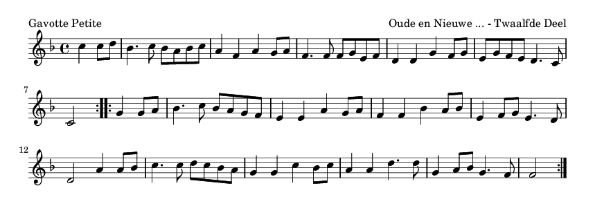 Gavotte Petite - please update page (F5 key), if notes are not visible
