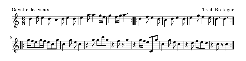 Gavotte des vieux - please update page (F5 key), if notes are not visible