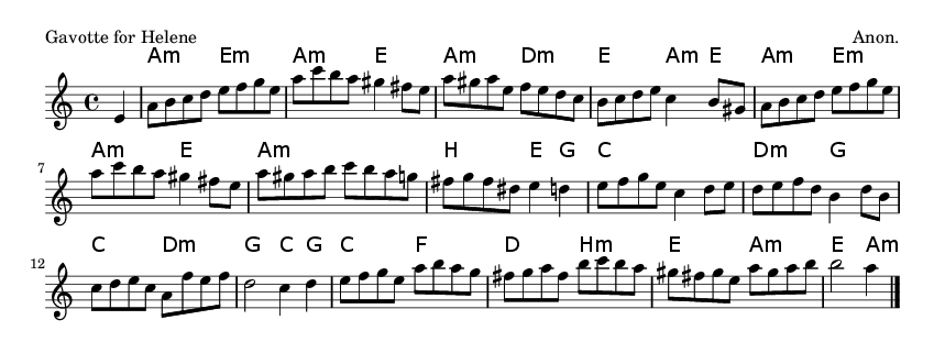 Gavotte for Helene - please update page (F5 key), if notes are not visible