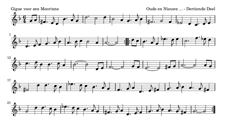 Gigue voor een Moorinne - please update page (F5 key), if notes are not visible