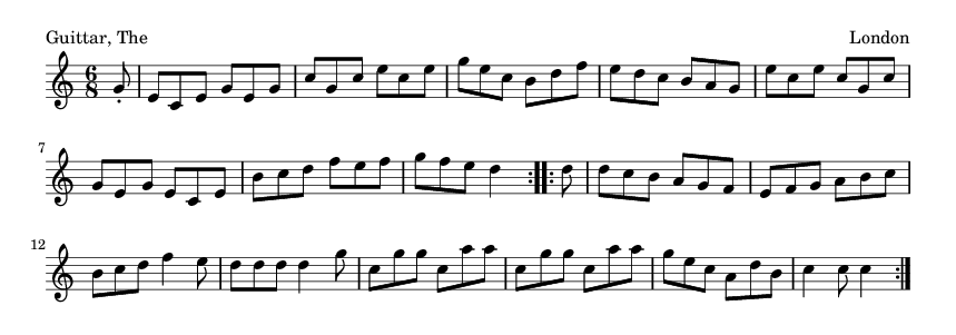 Guittar, The - please update page (F5 key), if notes are not visible