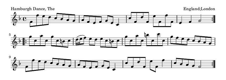 Hamburgh Dance, The - please update page (F5 key), if notes are not visible