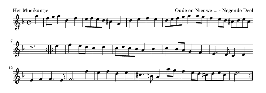 Het Musikantje - please update page (F5 key), if notes are not visible