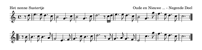 Het nonne Sustertje - please update page (F5 key), if notes are not visible