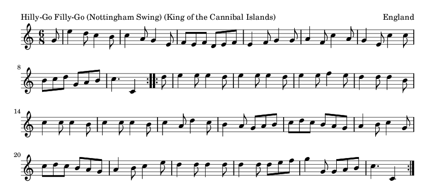 Hilly-Go Filly-Go (Nottingham Swing) (King of the Cannibal Islands) - please update page (F5 key), if notes are not visible
